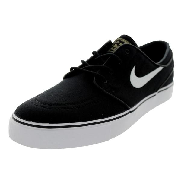 nike s zoom stefan janoski canvas black white skate