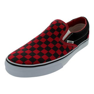 Vans Classic Slip-on Formula One Black Checkerboard Skate Shoes