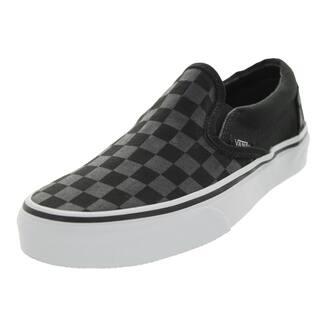 c1817b8badd Vans Unisex Classic Slip-on Checkerboard Black Canvas Skate Shoe
