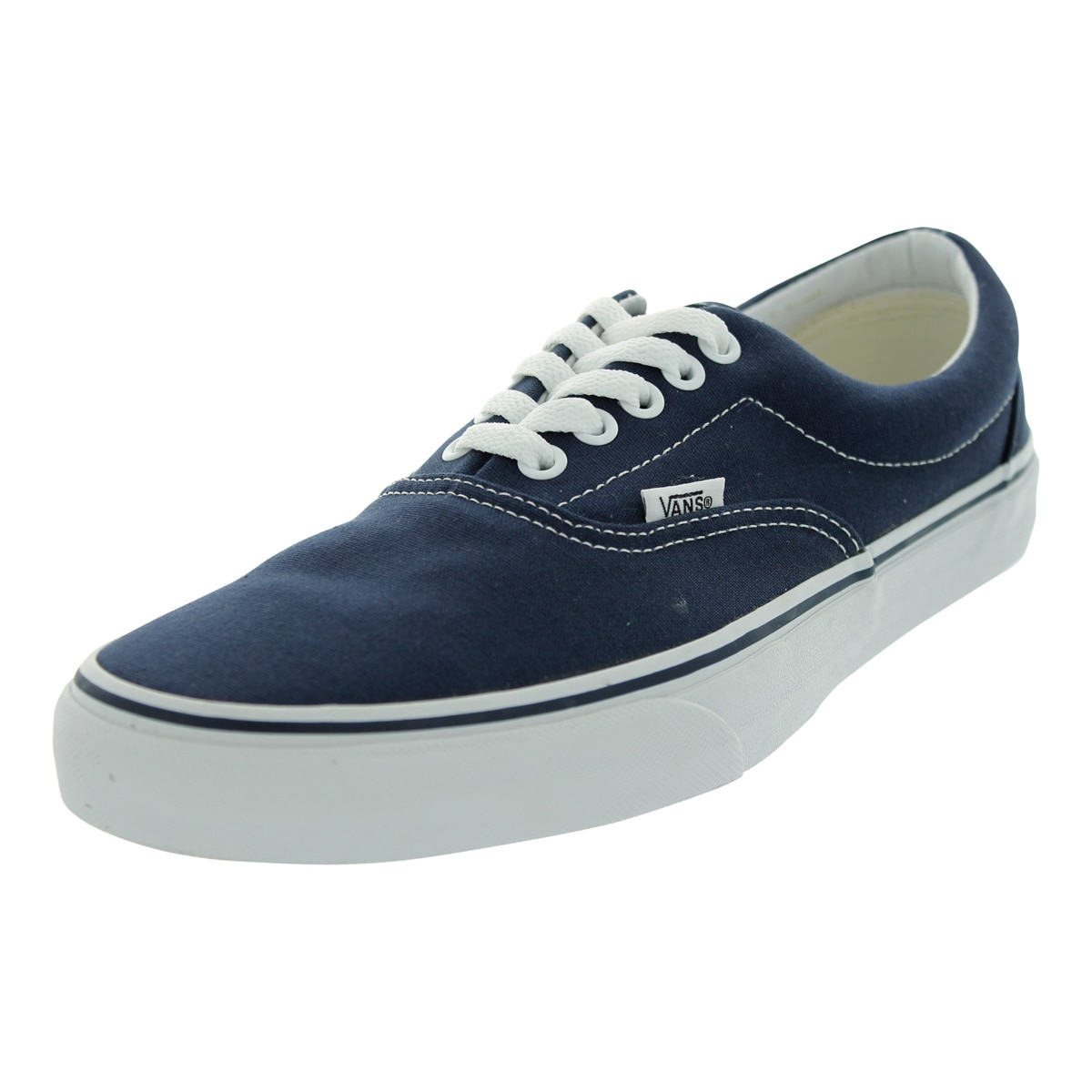 Shop Vans Era Blue Canvas Skate Shoes Overstock 12115644