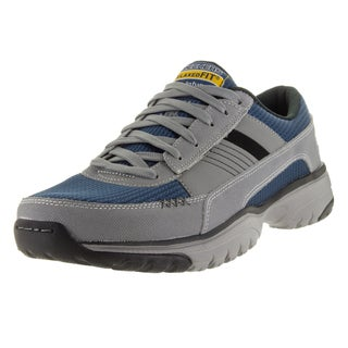 Skechers Men's Vantage Grey Leather Walking Shoes