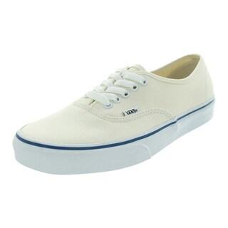 Vans Men's White/Off-white Canvas Authentic Skate Shoes