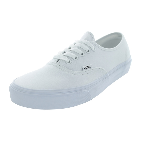 Shop Vans Authentic True White Canvas Skate Shoes - Free Shipping ... 5b407dec8