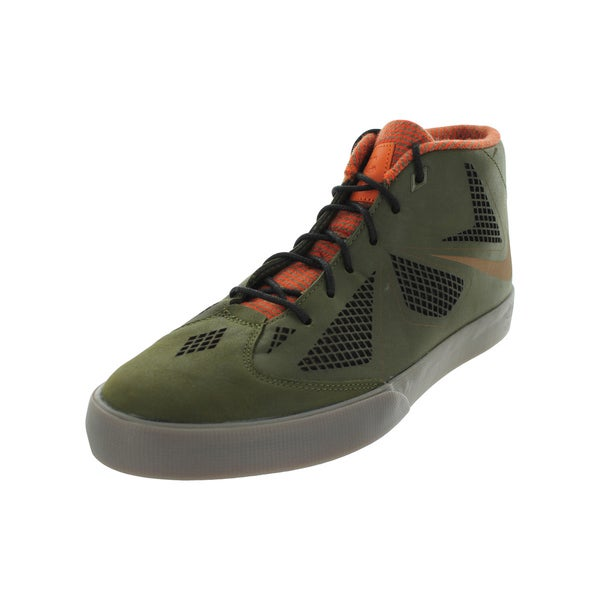 c26cb7de10ae Shop Nike Men s Lebron X NSW Lifestyle Green Leather Casual Shoe ...