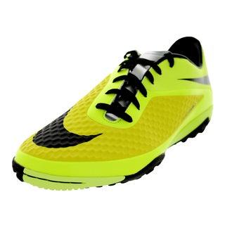 Nike Men's Hypervenom Phelon Yellow, Black, and Metallic Silver Synthetic Turf Soccer Shoe