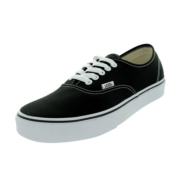 Shop Vans Authentic Black Canvas Skate Shoes - Free Shipping Today ... d01b72aa9