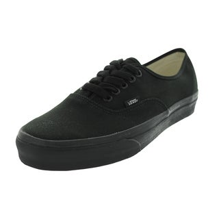Vans Authentic Black Canvas Skate Shoes