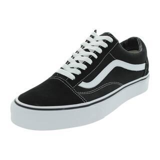 Vans Unisex Old Skool Black White Canvas Skate Shoes