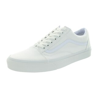 Vans Unisex Old Skool True White Canvas Skate Shoes