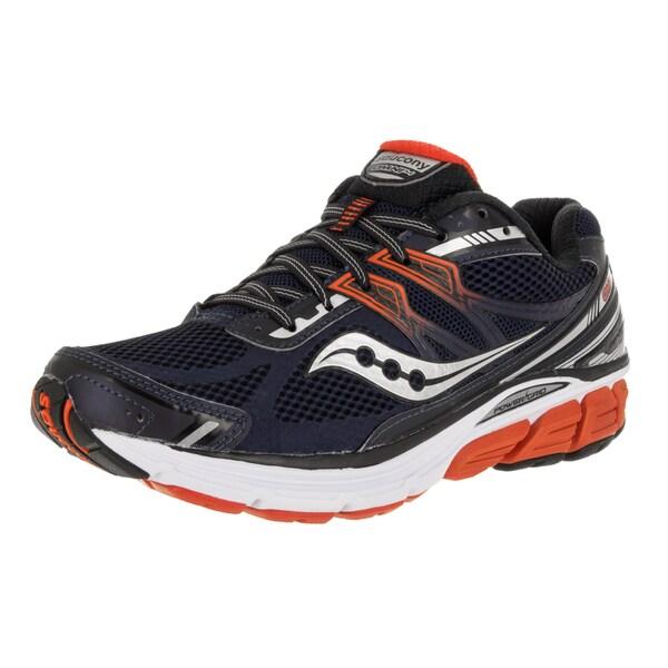 Saucony Men's Omni 14 Navy/Red Mesh Running Shoes