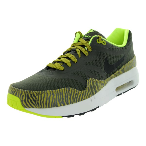 on sale 5d763 67c03 Nike Air Max 1 Premium Tape Black Gold Citron Running Shoe