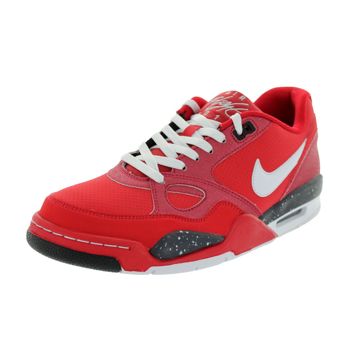 Nike Men's Flight '13 Red Basketball Shoes (8) (leather)