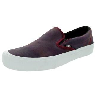 Vans Men's Slip-On Pro Purple Suede Skate Shoes