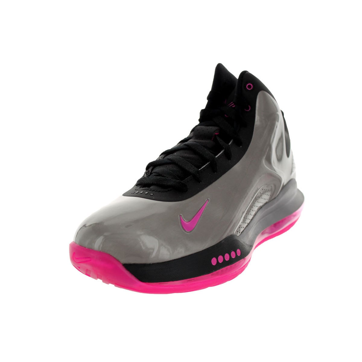 Nike Men's Hyperflight Max Pewter/Pink Synthetic Basketball Red