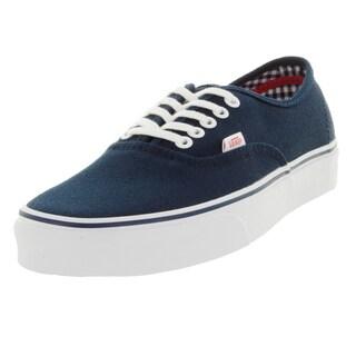 Vans Unisex Authentic Blue Canvas Skate Shoes