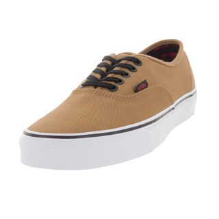 Vans Unisex Authentic Beige Canvas Skate Shoes