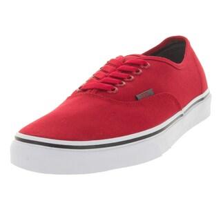 Vans Unisex Authentic Sport Pop Racing Red Canvas Skate Shoes