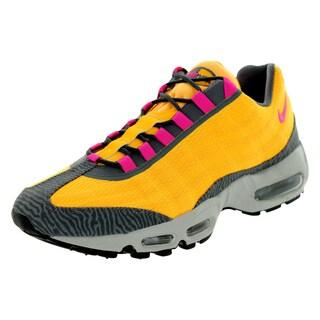 Nike Men's Air Max 95 Orange, Pink, and Dark Grey Running Shoes