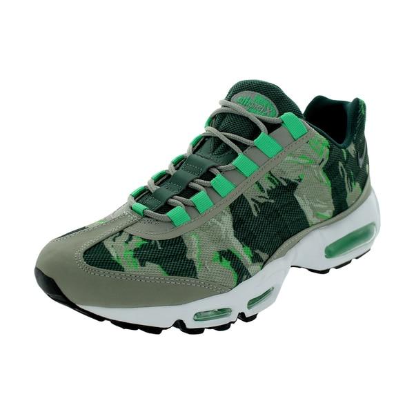 Shop Nike Men s Air Max 95 PRM Tape Mine Grey Gamma Green White Mesh ... 2a1dbcd86b74