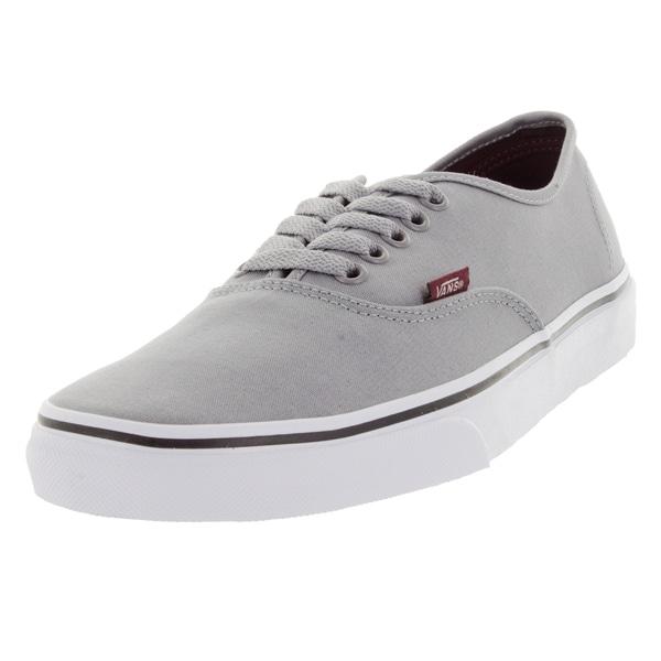 f8263063e06d1f Shop Vans Unisex Authentic Sport Pop Grey Canvas Skate Shoes - Free ...