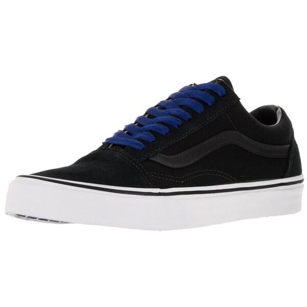 9a5d0c320768 Vans Unisex Old Skool Pop Lace BlackTrue Blue Canvas Skate Shoe ...