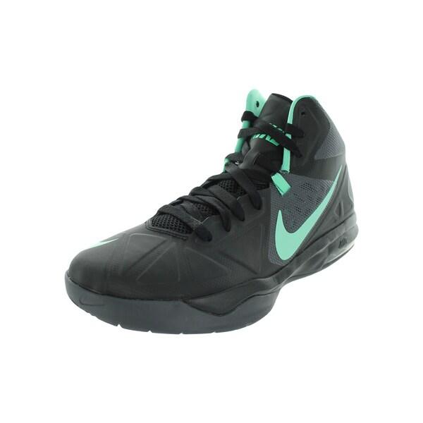7149ce983d99 Shop Nike Men s Air Max Body U Black Green Glow Dark Grey Basketball ...