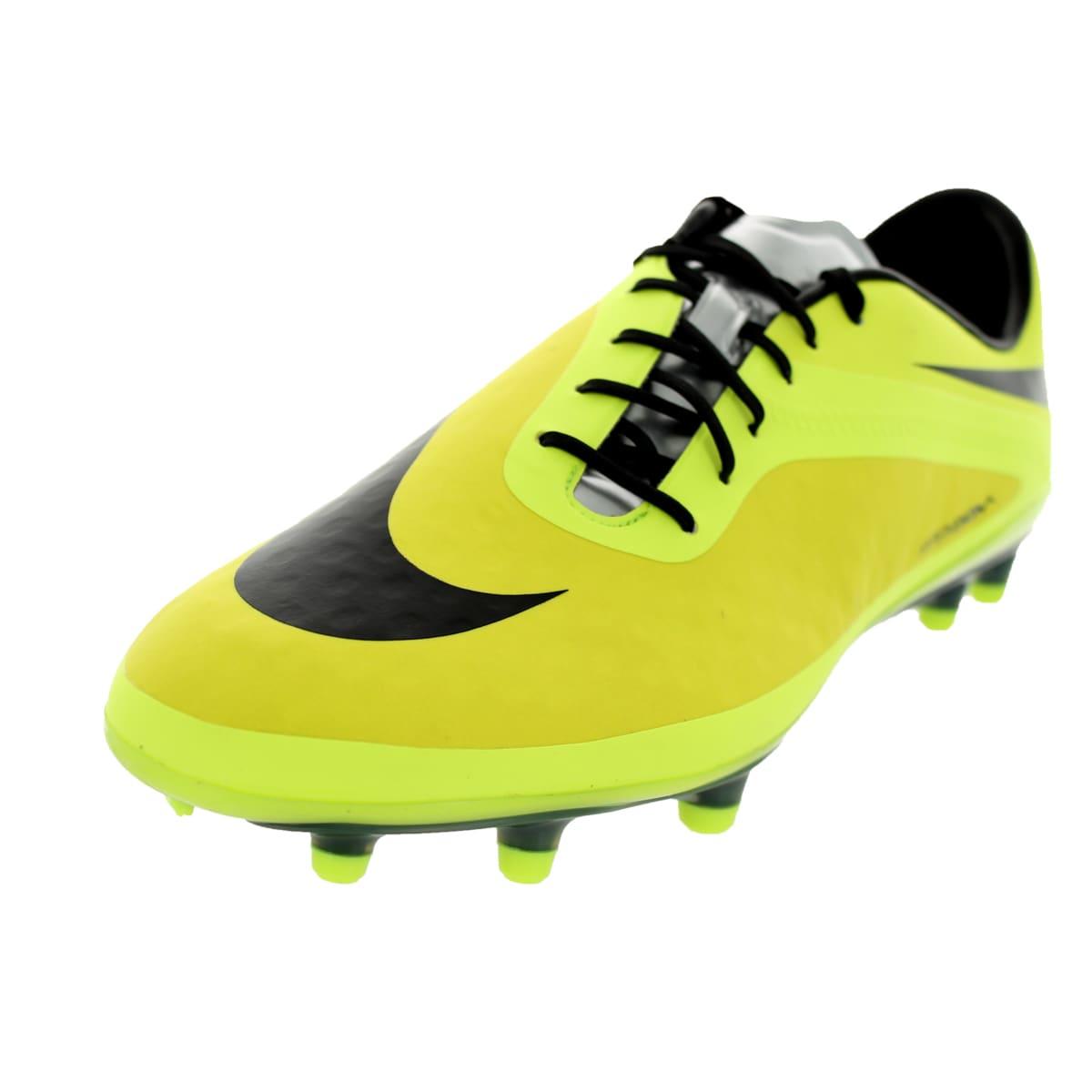 Nike Men's Hypervenom Phatal Yellow/Black Leather/Synthet...