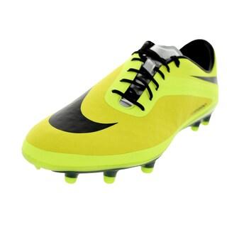 Nike Men's Hypervenom Phatal Yellow/Black Leather/Synthetic Soccer Cleat