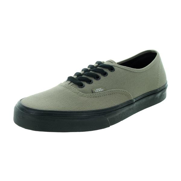 ca35153a0b Shop Vans Unisex Brindle Green Canvas Authentic Skate Shoe - Free ...