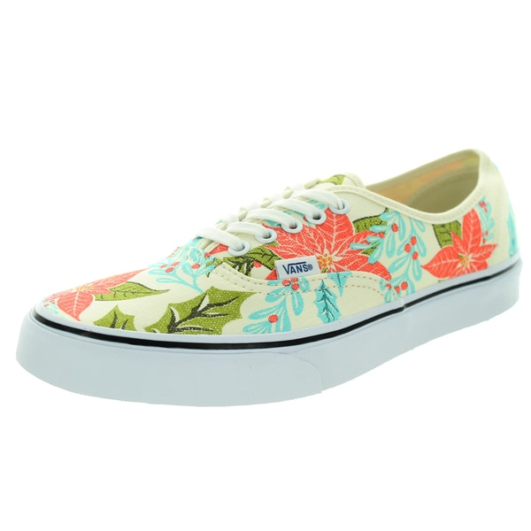 3eab34fc2fb Shop Vans Unisex Authentic Van Doren Poinsettia Classic White Skate ...
