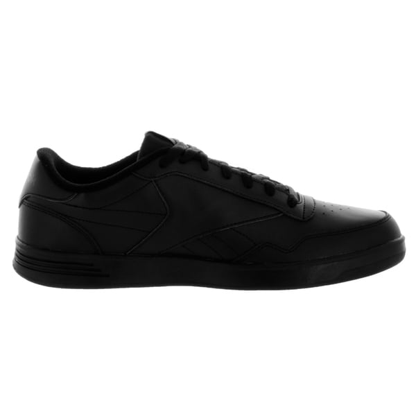 a90eb20fbec6 Shop Reebok Men s Club MEMT Wide 4E Black Dark Heather Solid Grey Leather  Casual Shoes - Free Shipping Today - Overstock.com - 12115850