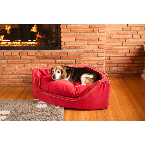 Snoozer Micro Suede Overstuffed Luxury Dog Bed