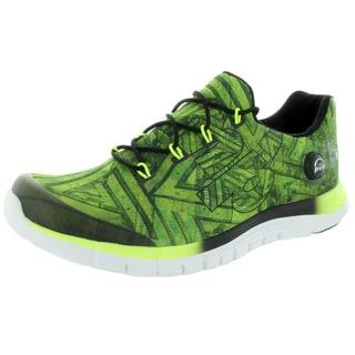 Reebok Men's Zpump Fusion Geo Solar Yellow/Black/White Running Shoe