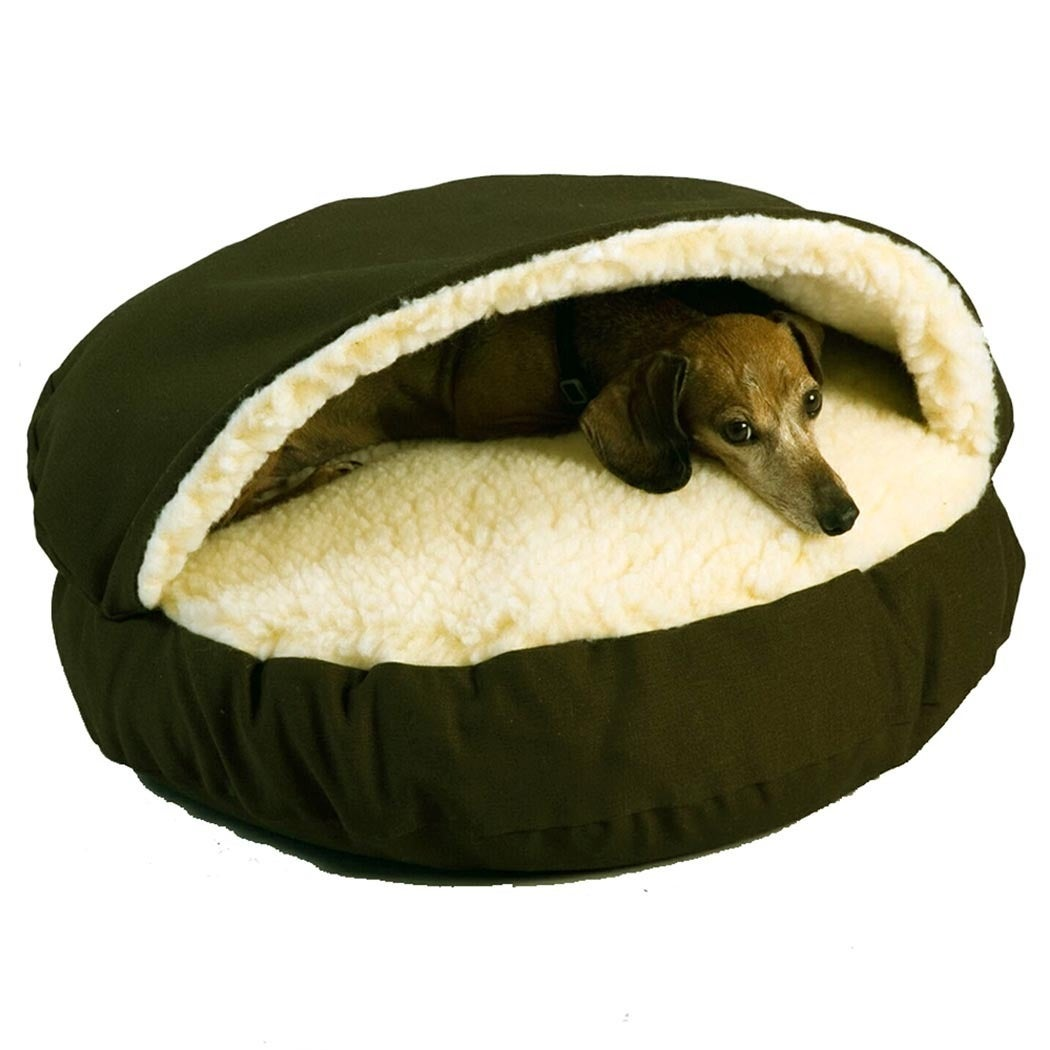 Snoozer Cozy Cave Pet Bed (Extra Large-Khaki), Green