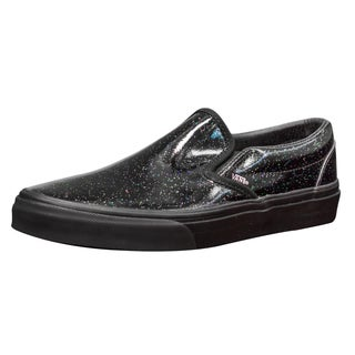 Vans Unisex Classic Slip-On Black Patent Leather Skate Shoes