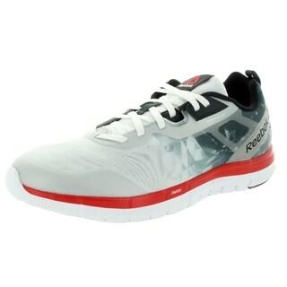 Reebok Men's ZQuick Soul White/Gravel/Red Rush/Black Mesh Running Shoe