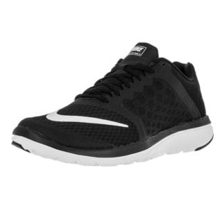 Nike Men's FS Lite Run 3 Black and White Mesh Running Shoes