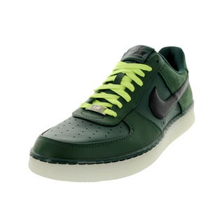Nike Men's Air Force 1 Downtown Low Pro Green Leather Walking Shoes