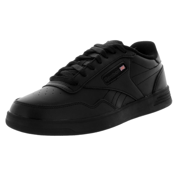 Shop Reebok Men s Club Memt Classic Black Leather Walking Shoes ... edeb5759a