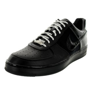 Nike Men's Air Force 1 Downtown Low Black/Metallic Silver Basketball Shoe