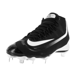 Nike Men's Huarache 2KFilth Pro Mid Black/White Synthetic/Mesh Baseball Cleat