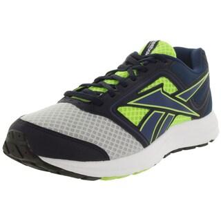 Reebok Men's Zone Cushrun Silver, Yellow, and Blue Mesh Running Shoe
