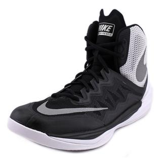 Nike Men's Prime Hype DF II Black/Reflecting Silver/White/Flat Silver Synthetic/Leather Basketball Shoe