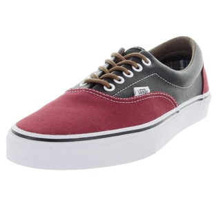 Vans Unisex Era Red/Grey Canvas Skate Shoes