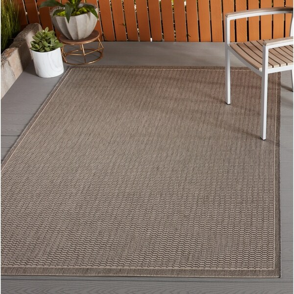 "Couristan Recife Saddle Stitch Champagne/ Taupe - 8'6"" x 13'"