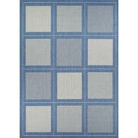 Couristan Recife Summit/Champagne-Blue Indoor/Outdoor Area Rug - 5'3 x 7'6