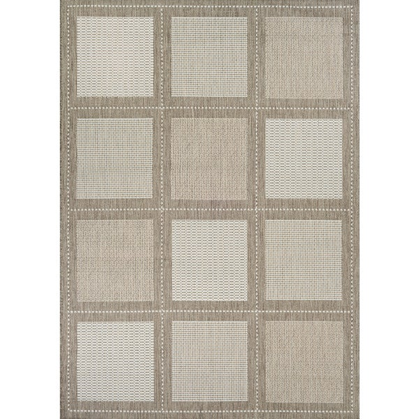 Couristan Recife Summit Champagne/ Taupe Indoor/Outdoor Area Rug - 3'9 x 5'5