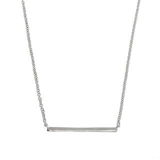 Eternally Haute White Brass High-polished Bar Necklace