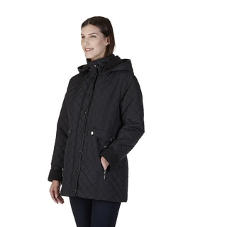 Nuage Women's Geneva Black/Purple Polyester/Nylon Coat
