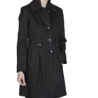 Nuage Valencia Women's Polyester/Spandex Button-front Coat